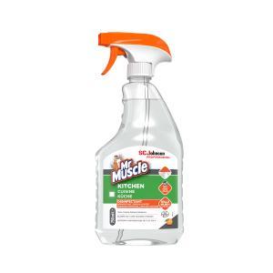 Mr Muscle® Küchenreiniger, Reinigt Fett und Schmutz in stark frequentierten Großküchen, 0,75 Liter - Flasche