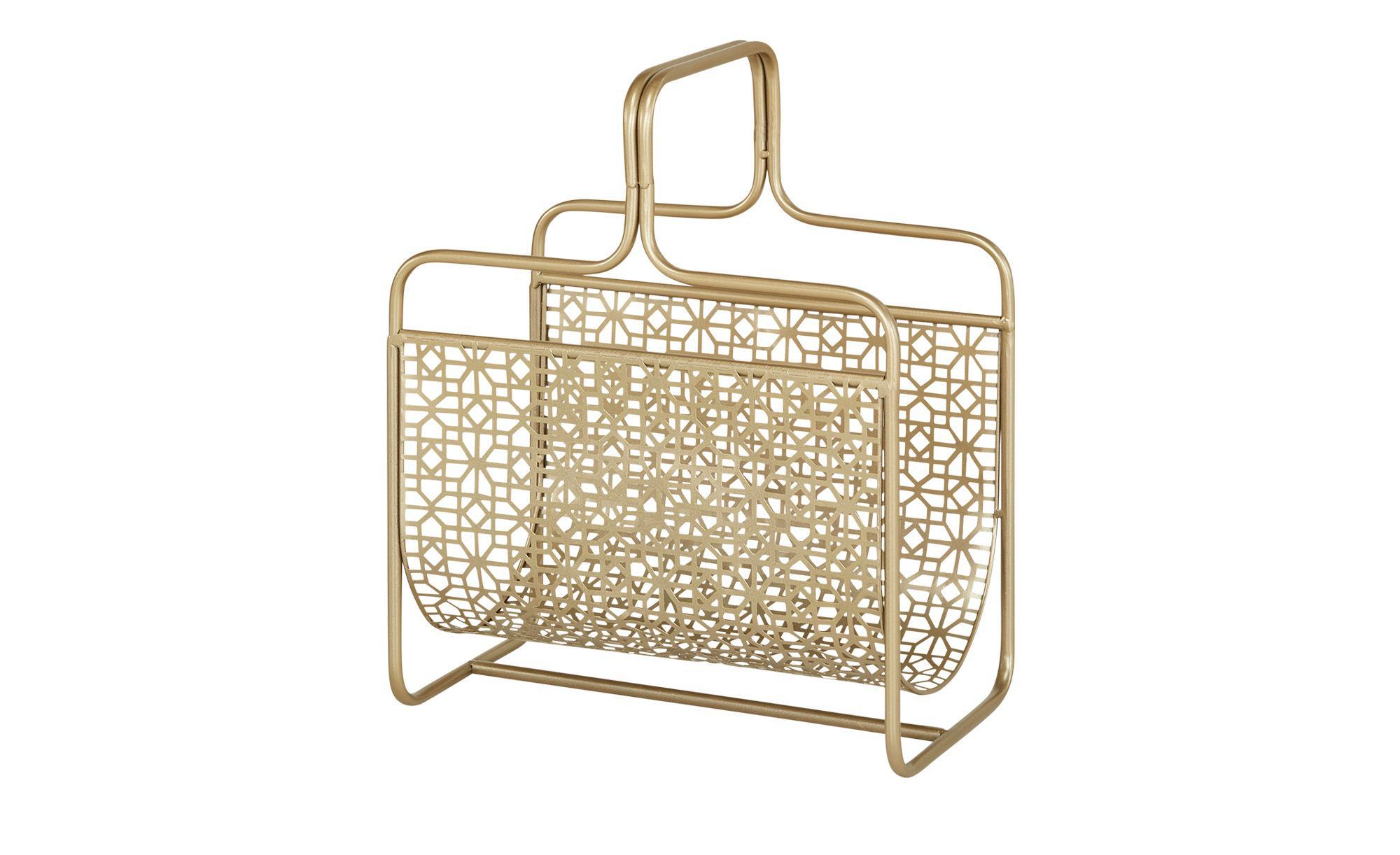 Zeitungsständer - gold - Möbel Kraft