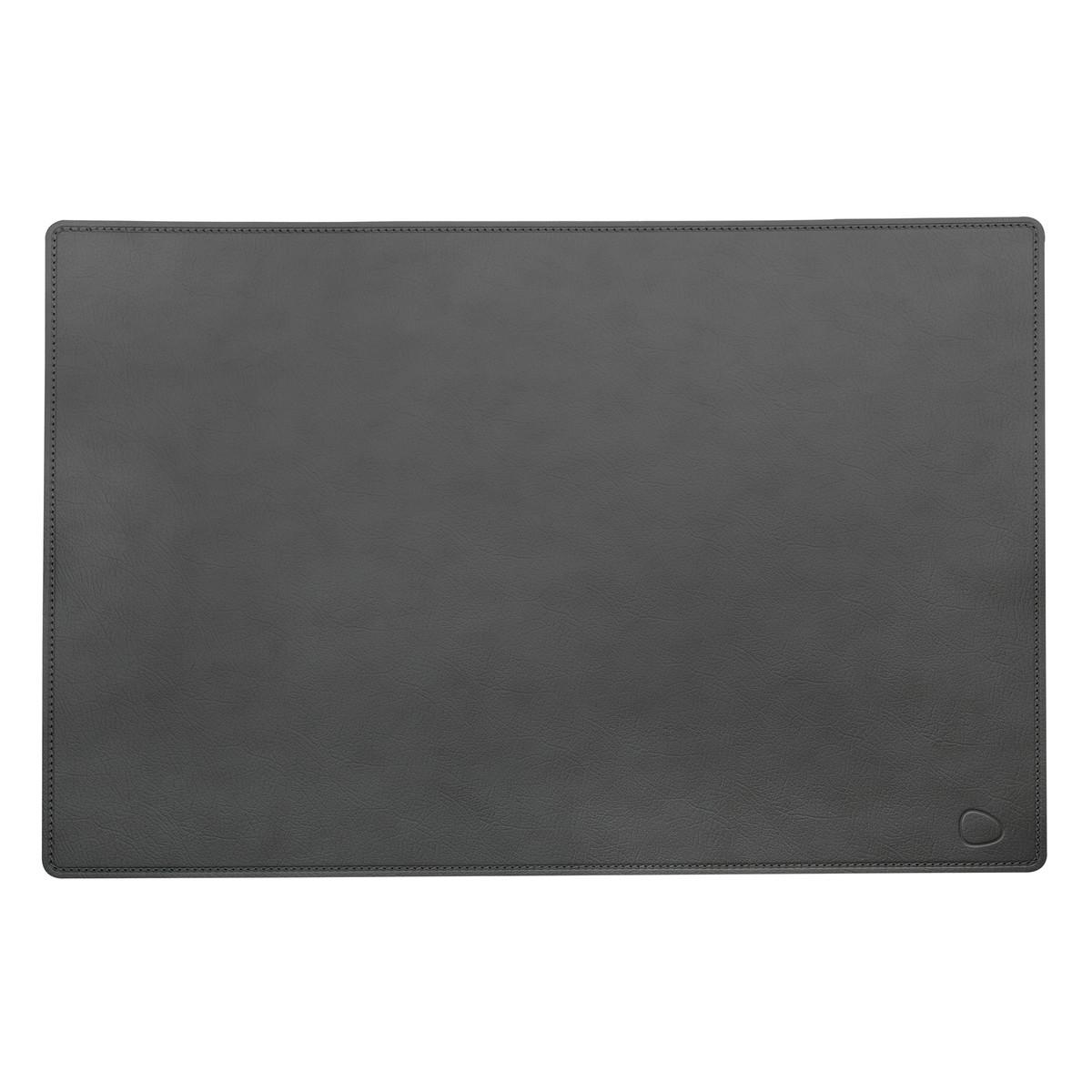 LindDNA - Work Mat Square XXL 54 x 74 cm, Cloud anthrazit / anthrazit
