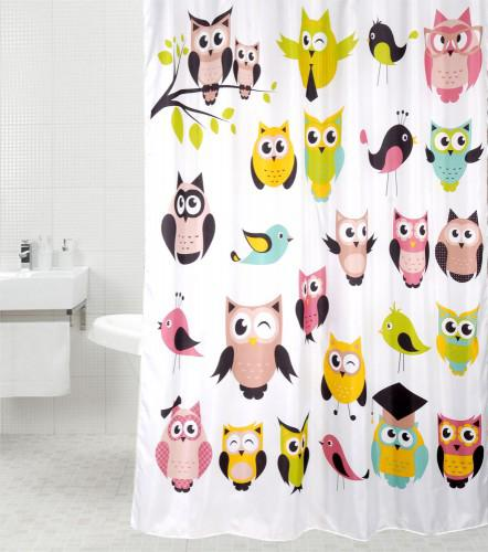 Duschvorhang Owl 180 x 180 cm