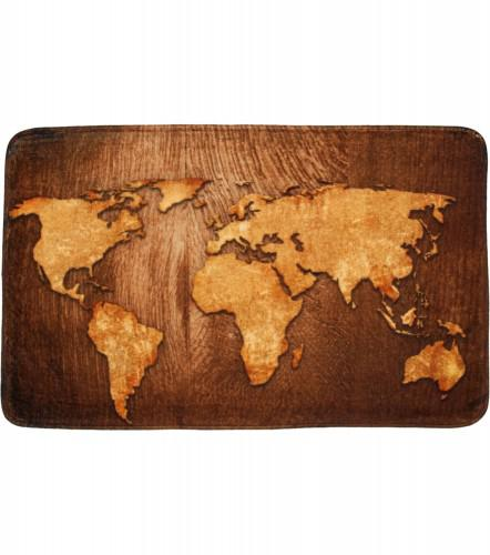 Badteppich World Map 50 x 80 cm