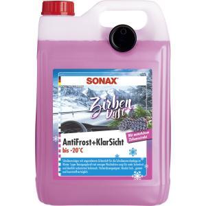 SONAX AntiFrost & KlarSicht Scheibenreiniger, Zirbe, Frostschutz für die Scheibenwaschanlage, 5 Liter - Kanister