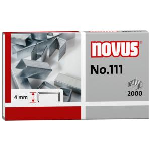 Novus No. 111 Heftklammer, Für Papierstapel bis 15 Blatt Standardpapier (80 g/qm), 1 Packung = 2000 Stück