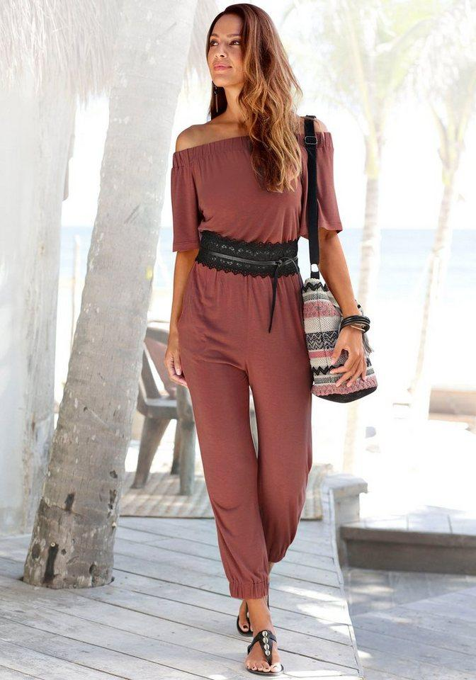 LASCANA Overall im Carmenstyle