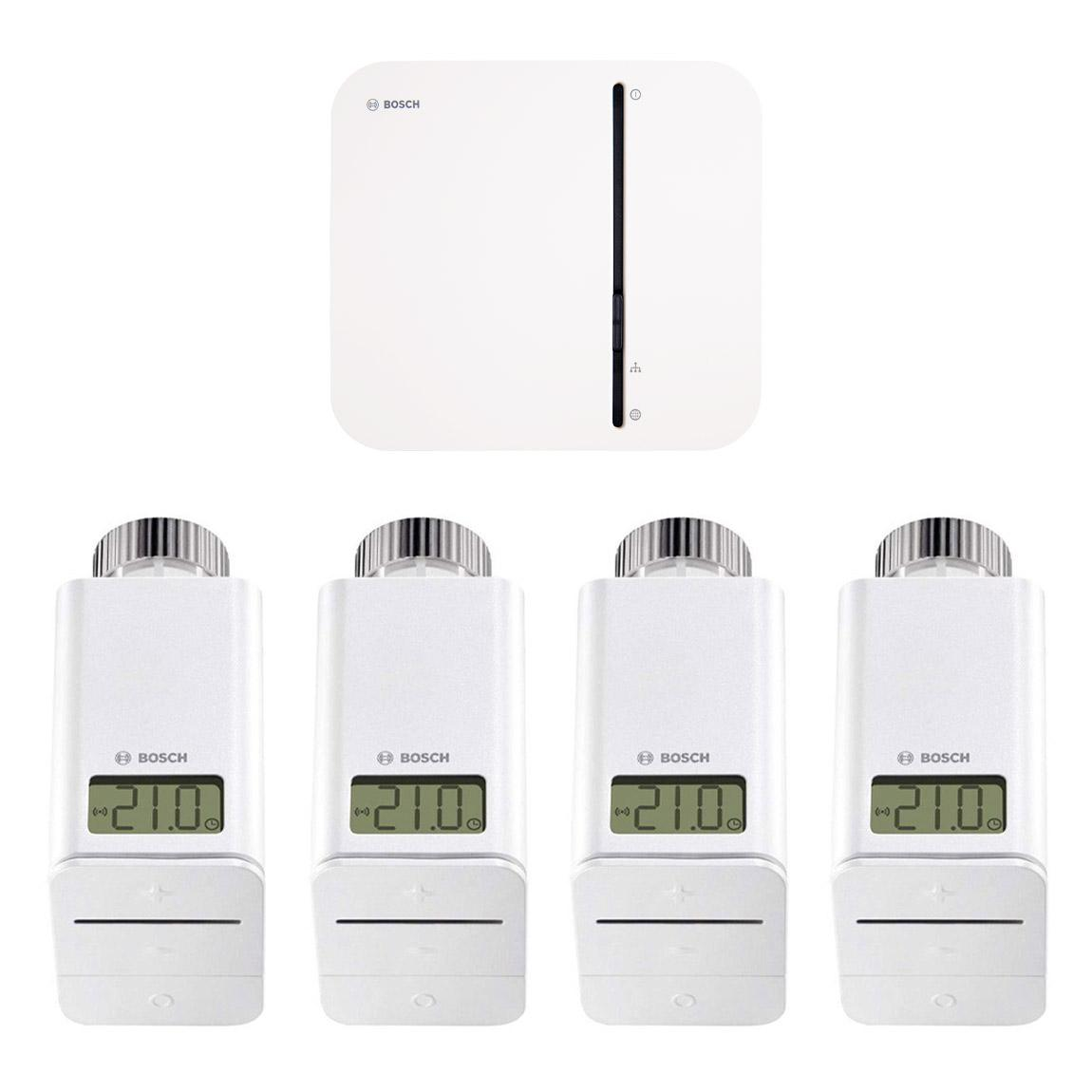 Bosch Smart Home - Starter Set Heizung mit 4 Thermostaten