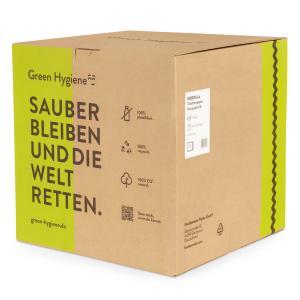 Green Hygiene® KORDULA Toilettenpapier, 3-lagig, Umweltfreundliches Klopapier aus 100% recyceltem Papier, 1 Karton = 36 Rollen
