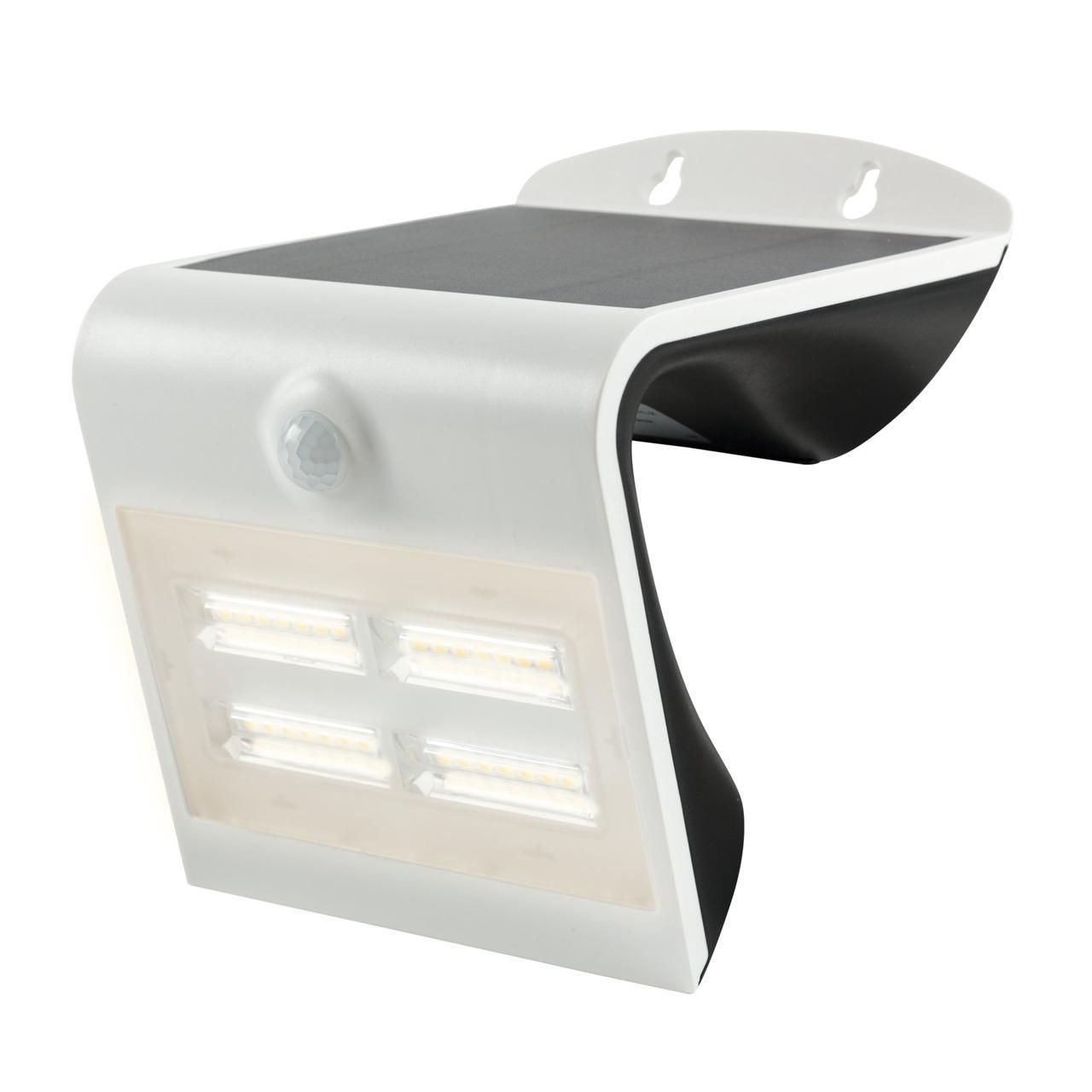 HEITRONIC 3,2-W-Solar-LED-Wandleuchte mit 120°-Bewegungsmelder, warmweiß