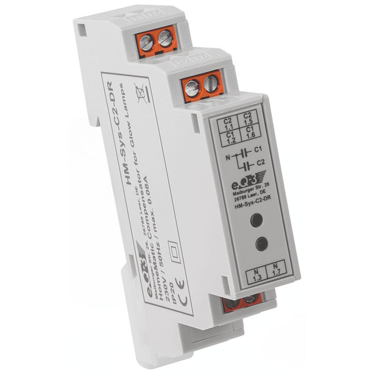 ELV Homematic Bausatz Kompensator für Glimmlampen HM-Sys-C2-DR