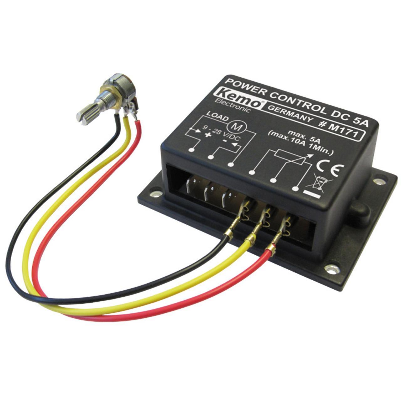 Kemo PWM-Leistungsregler 9–28 V/DC, max. 10 A