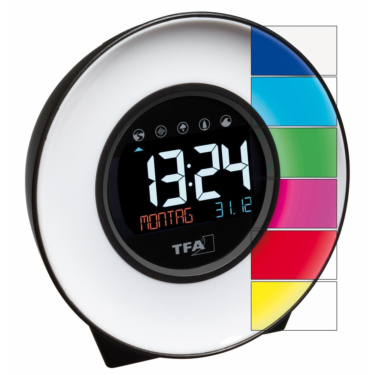 TFA Multifunktions-Licht-Wecker mit Naturgeräuschen und Stimmungslicht