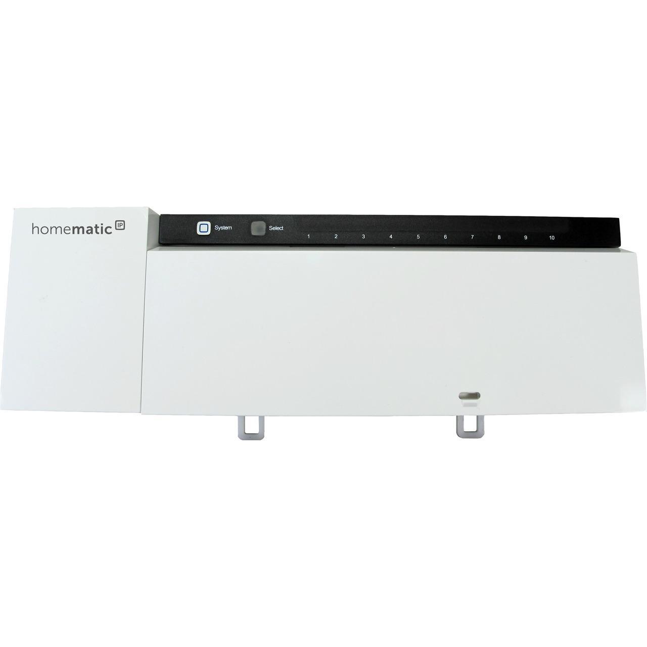 Homematic IP Smart Home Fußbodenheizungsaktor HmIP-FAL230-C10 – 10fach, 230 V