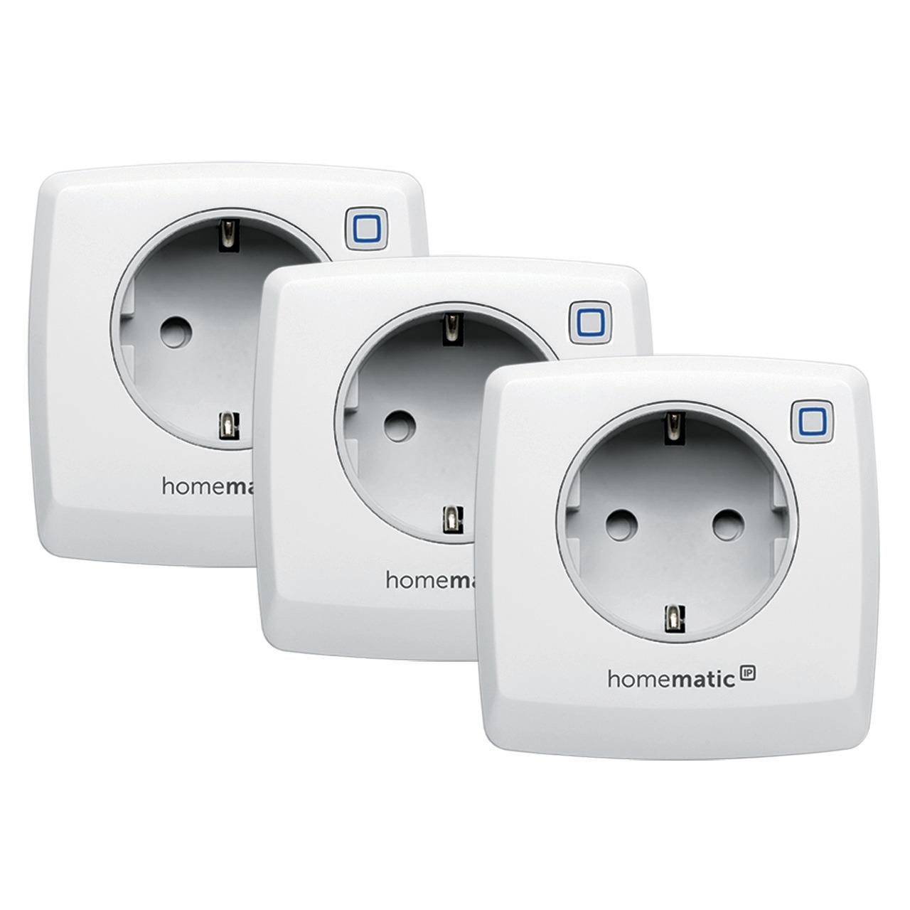 Homematic IP Smart Home 3er Set Schalt-Mess-Steckdose HmIP-PSM