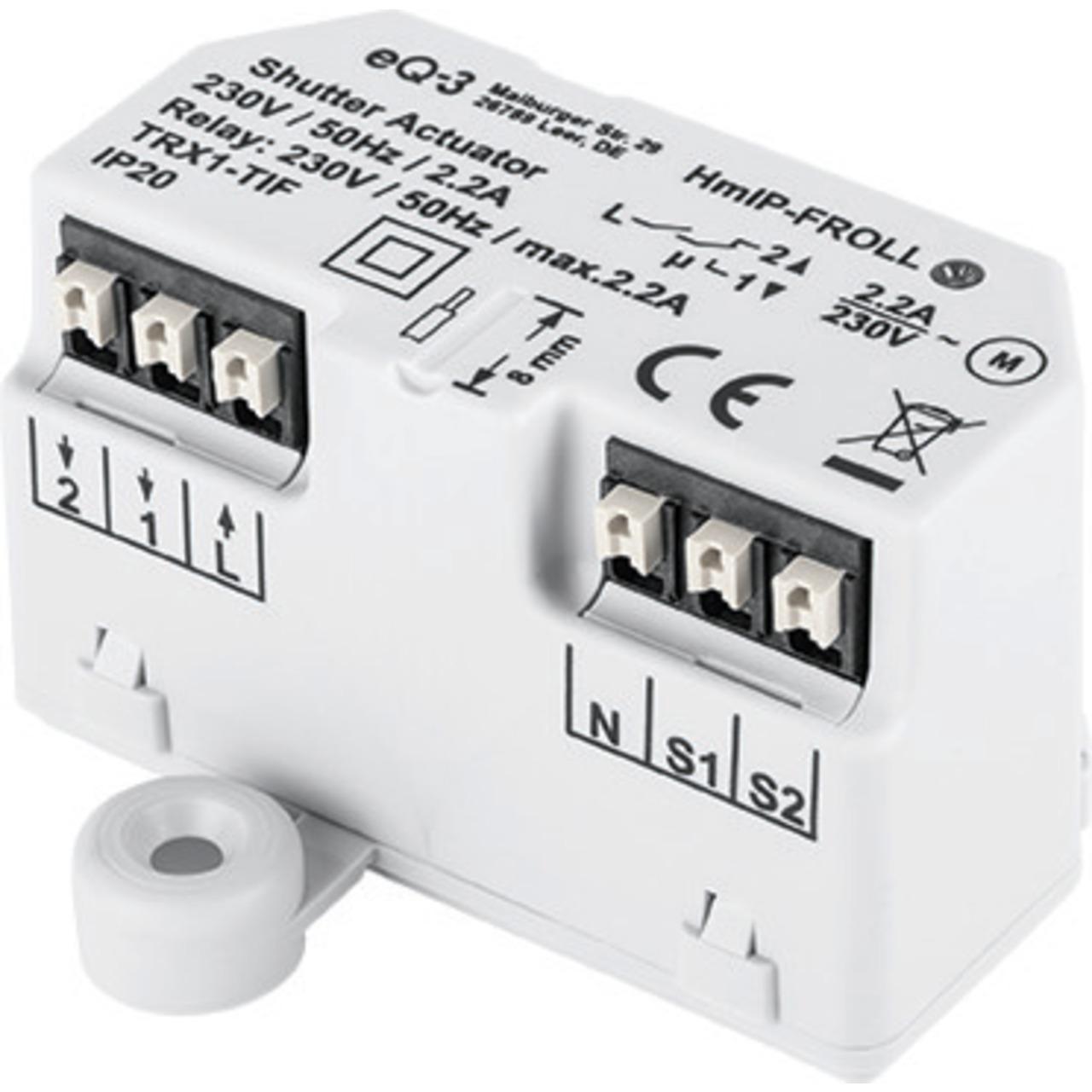 Homematic IP Smart Home Rollladenaktor HmIP-FROLL – Unterputz, auch für Markisen geeignet