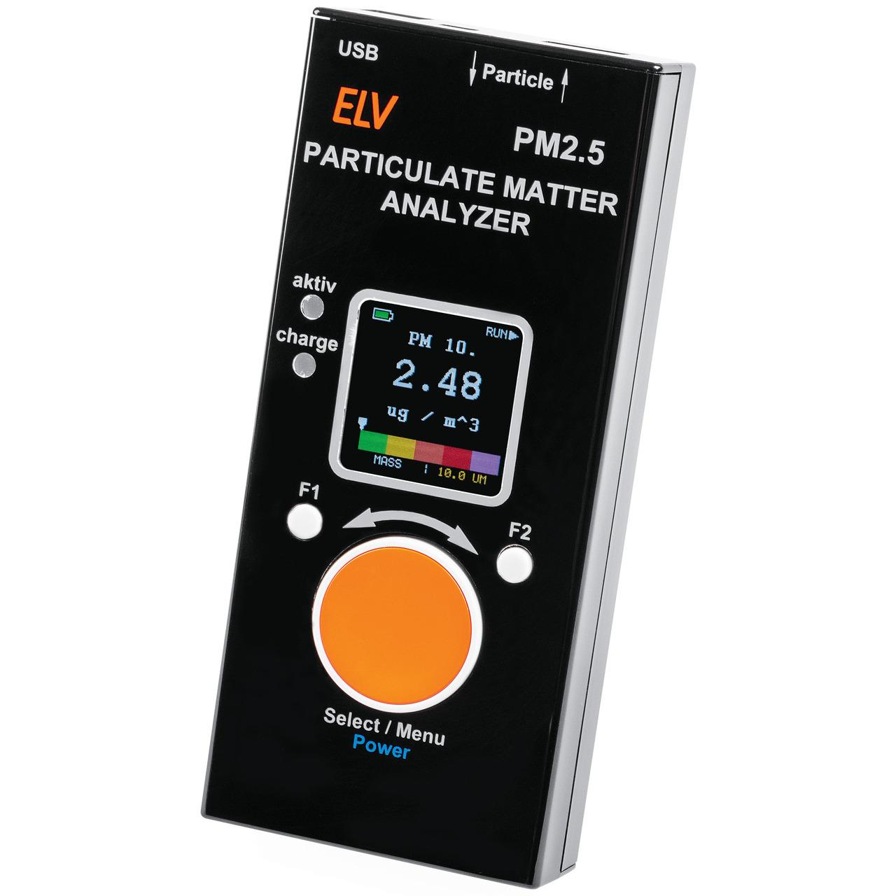 ELV Feinstaub-Messgerät PM2.5 (verbauter Feinstaubsensor SPS30 ist MCERTS-Zertifiziert)