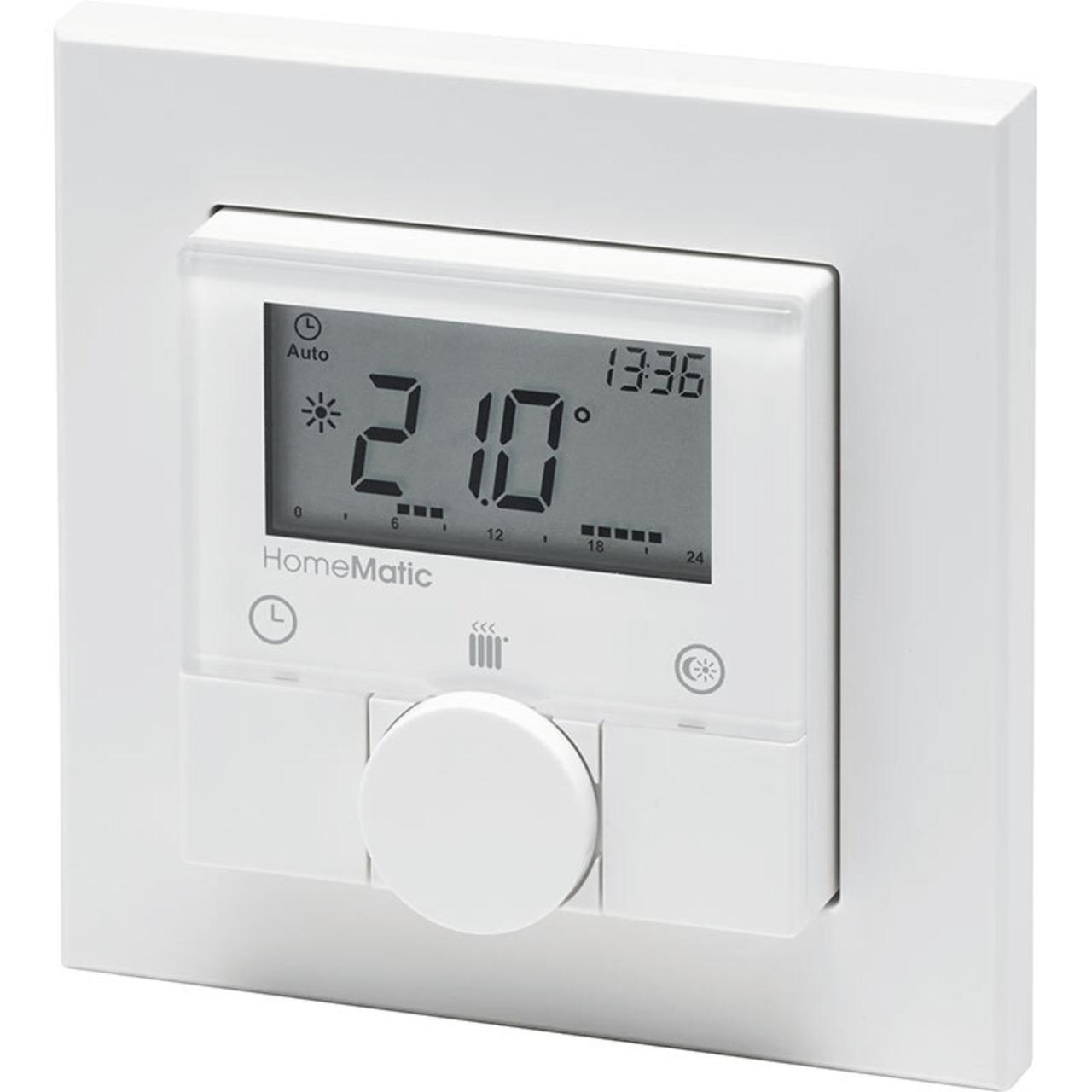 Homematic Funk-Wandthermostat HM-TC-IT-WM-W-EU für Smart Home / Hausautomation