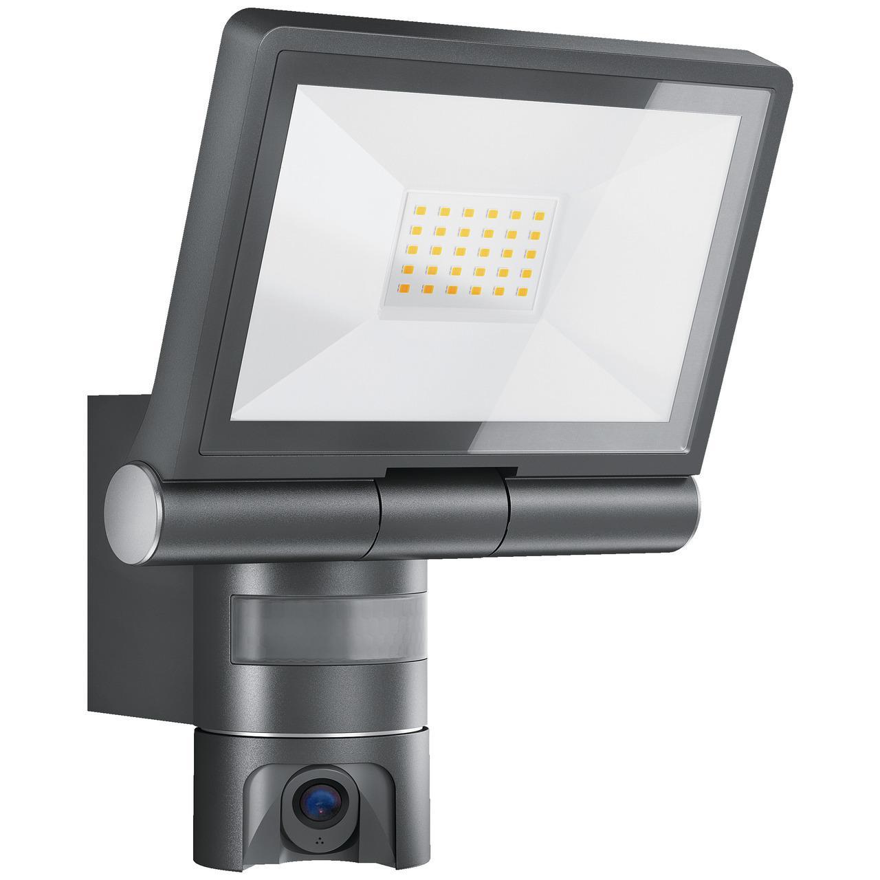 Steinel 21-W-LED-Strahler/-Kameraleuchte XLED CAM 1, mit HD-Kamera, App-Zugriff