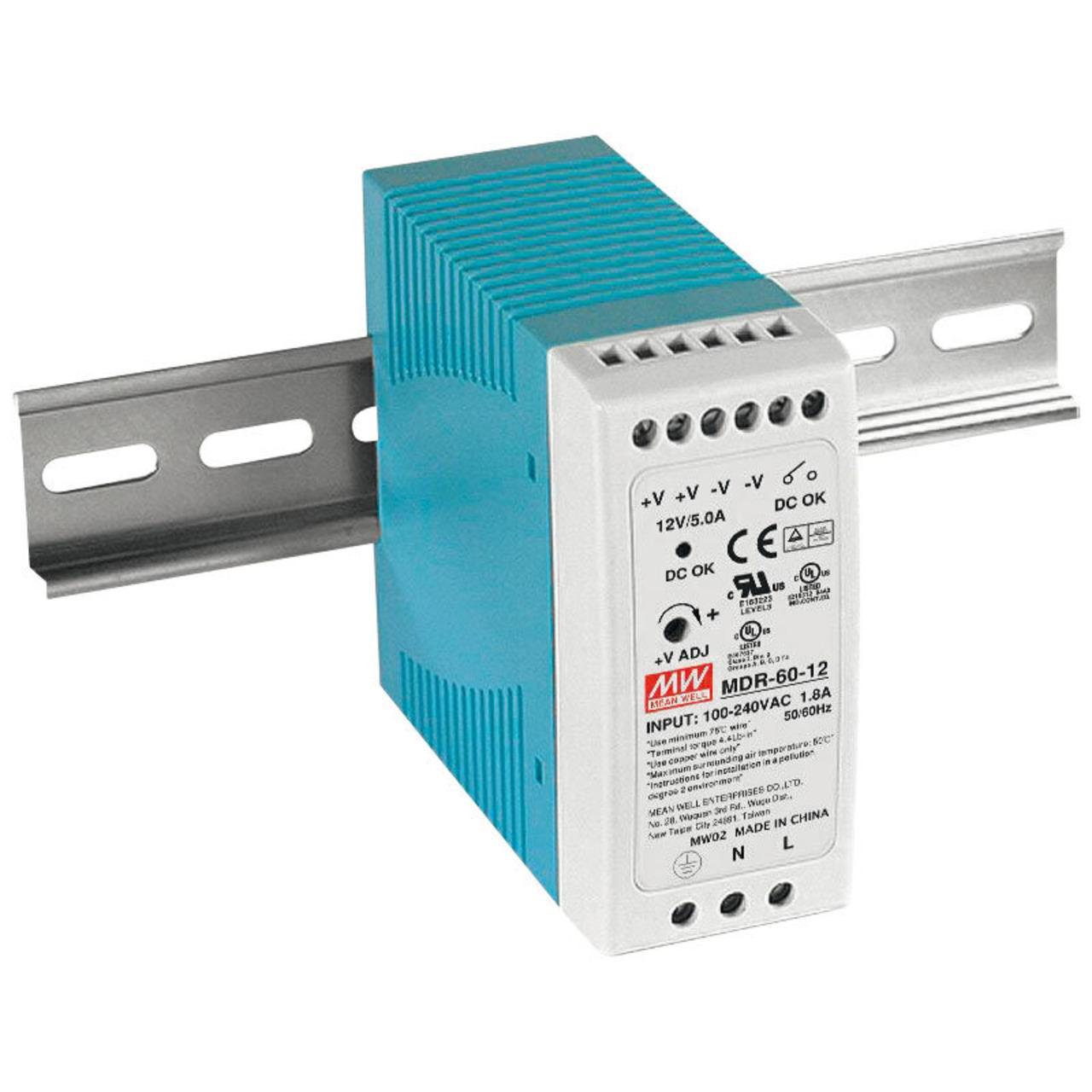 Mean Well Hutschienennetzteil MDR-60-5 - 50W, 5 V DC / 10 A