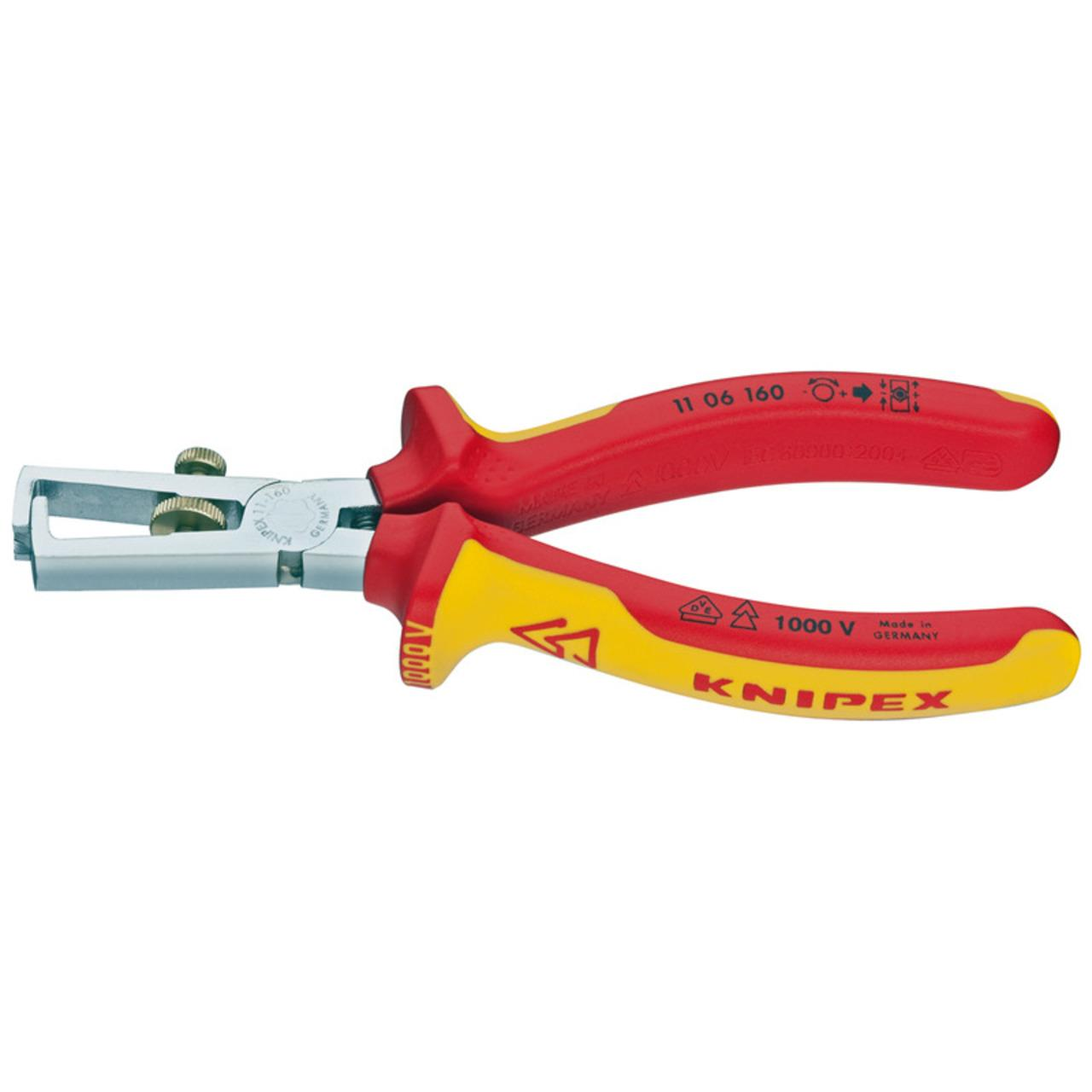 Knipex VDE-Abisolierzange 160 mm