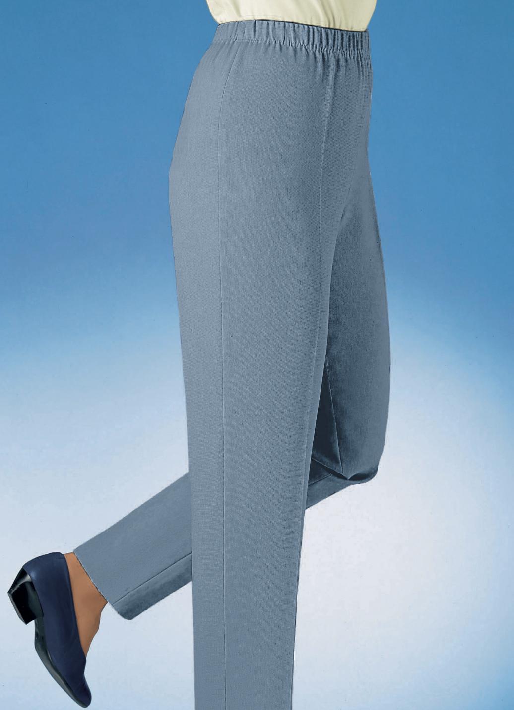 Hose in Schlupfform in 36 Farben, Taubenblau, Größe 19