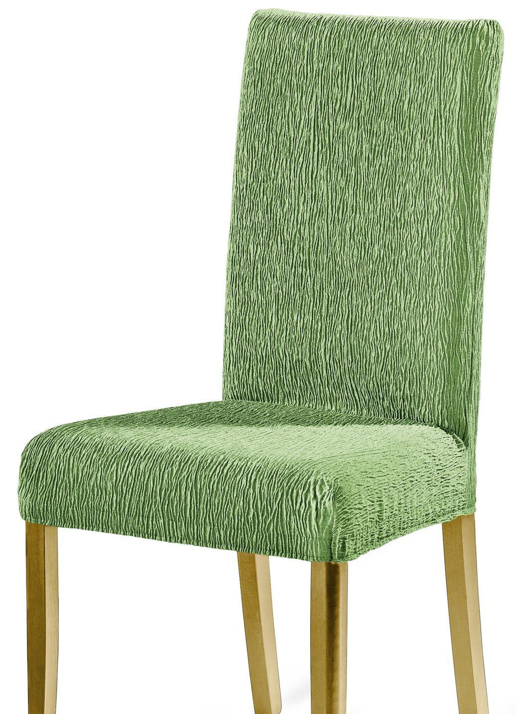 Stuhlbezüge in beliebter Stretch-Qualität, Größe 106 (Stuhlbezug), Grün