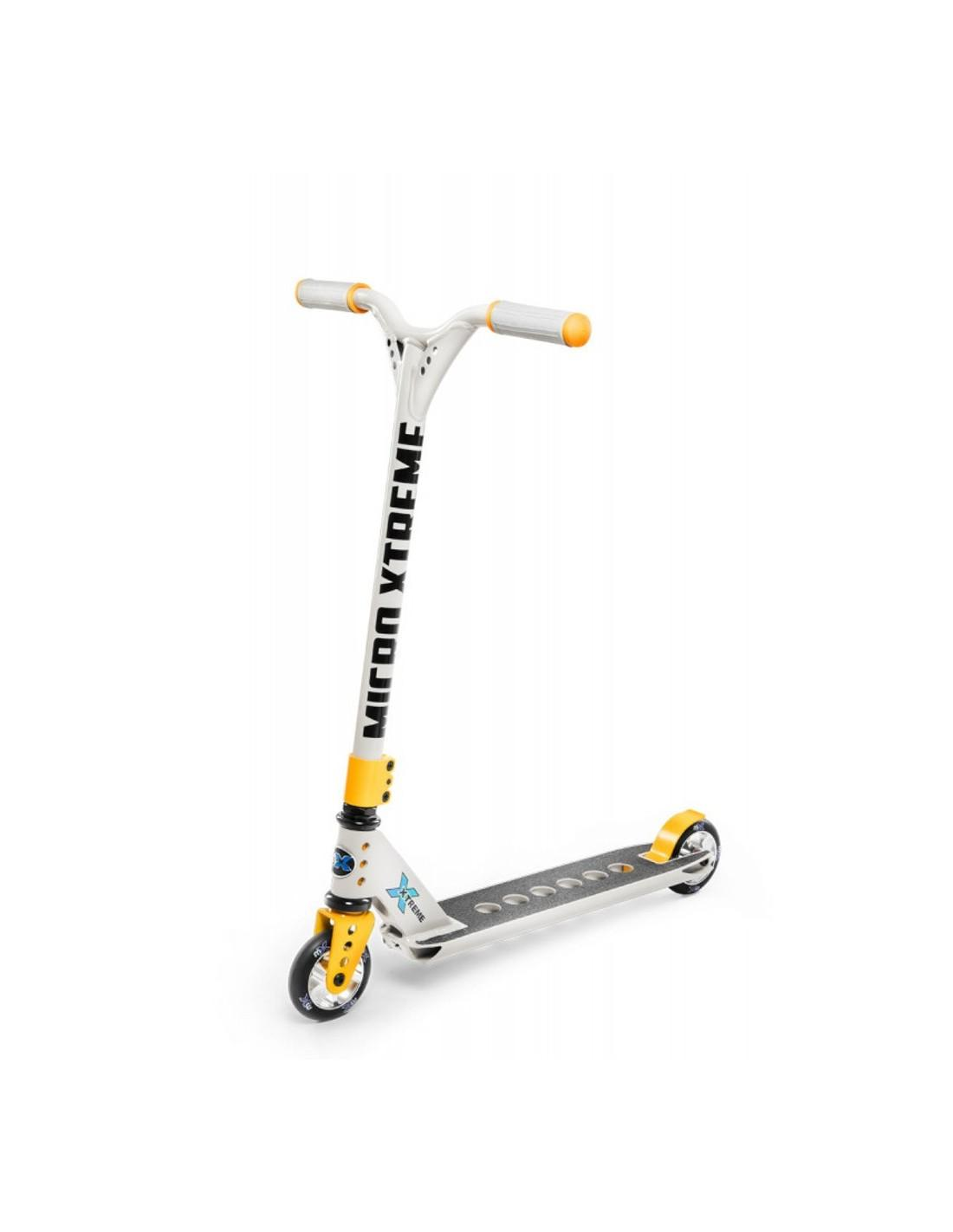 Micro Scooter MX Trixx 2.0 100 mm Stuntscooter, grey yellow Scooterreifen - PU Reifen, Scooterart - Stuntscooter, Scooterfarbe - Grau,