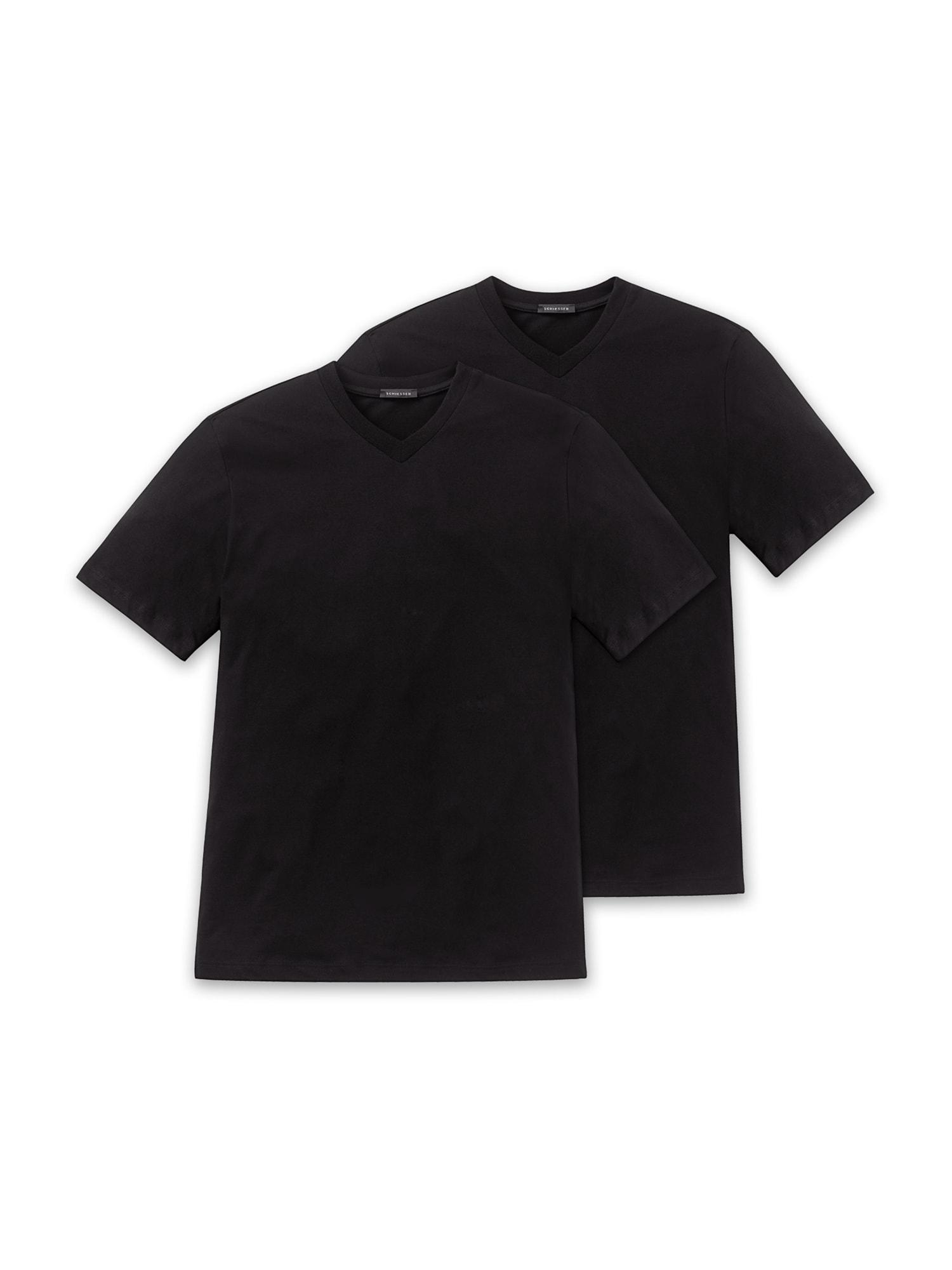 SCHIESSER 2-Pack ' American T-Shirt ' schwarz