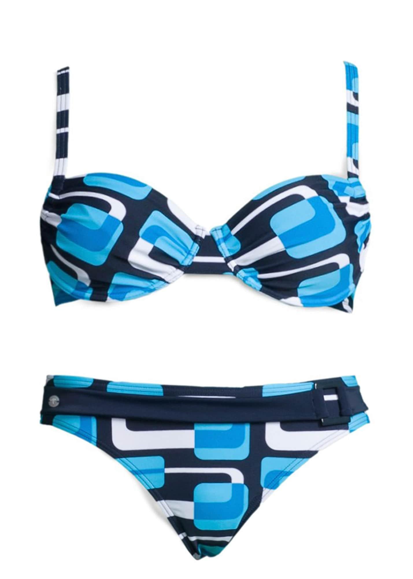 KangaROOS Bügel-Bikini blau / weiß