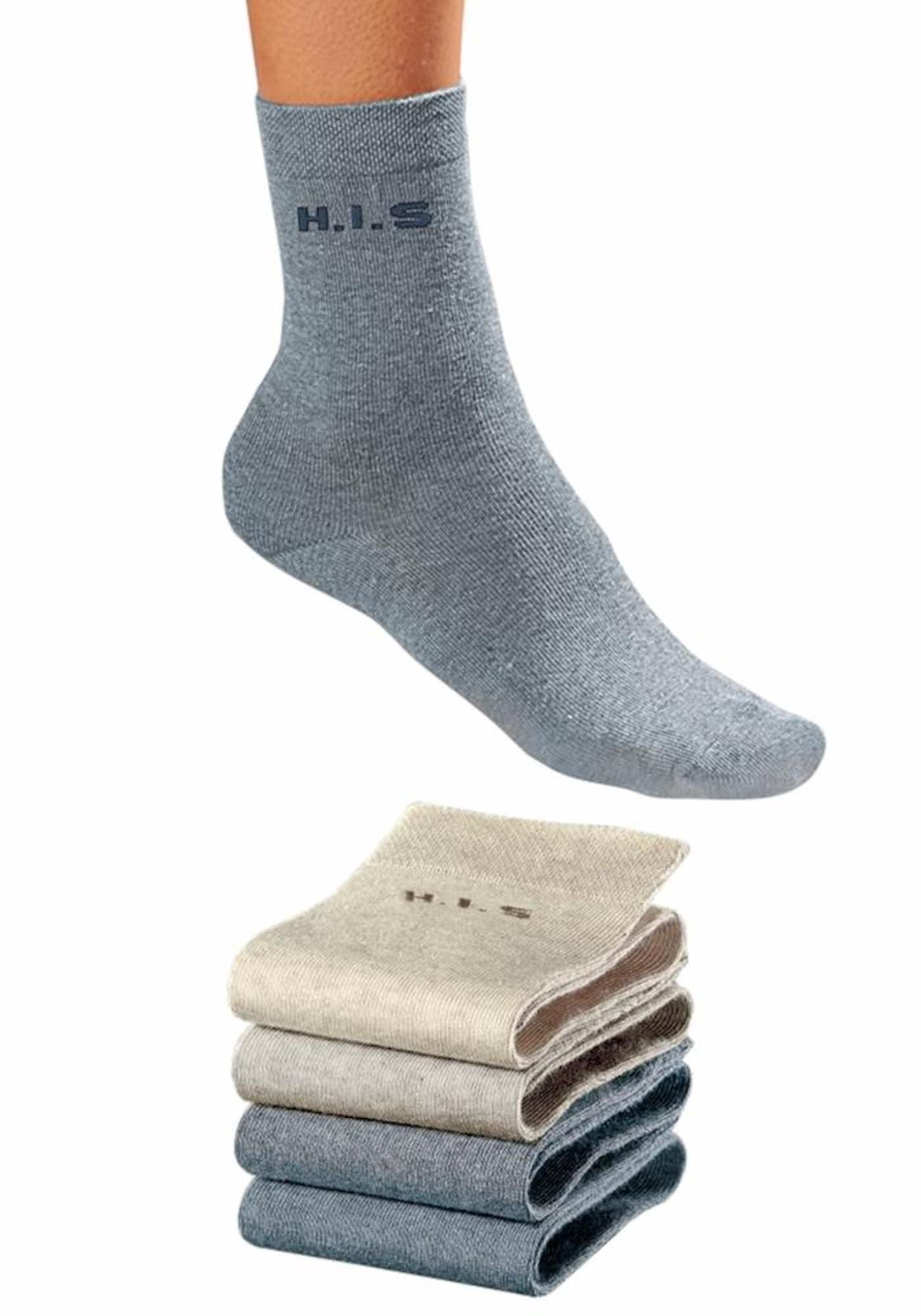 H.I.S H.I.S Socken (4 Paar) ohne einschneidendes Bündchen blau