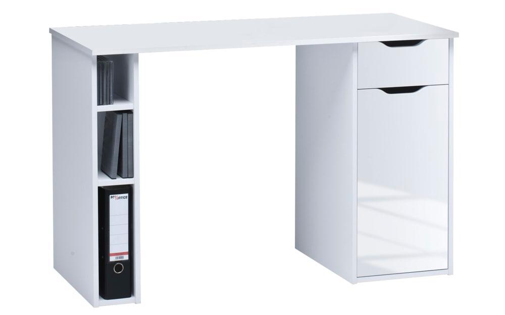 Schreibtisch 4008 in weiß Hochglanz