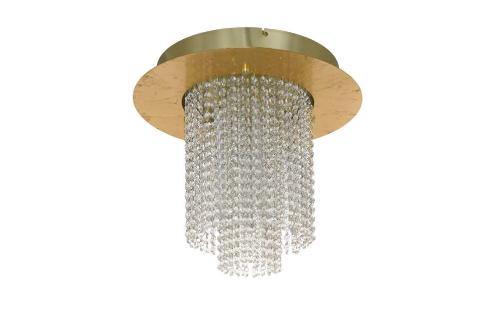 LED-Deckenleuchte Vilalones in goldfarbig