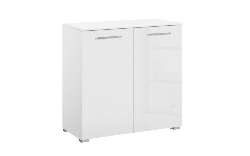 Kommode 4041 in hochglanz weiß, 80 x 81 cm