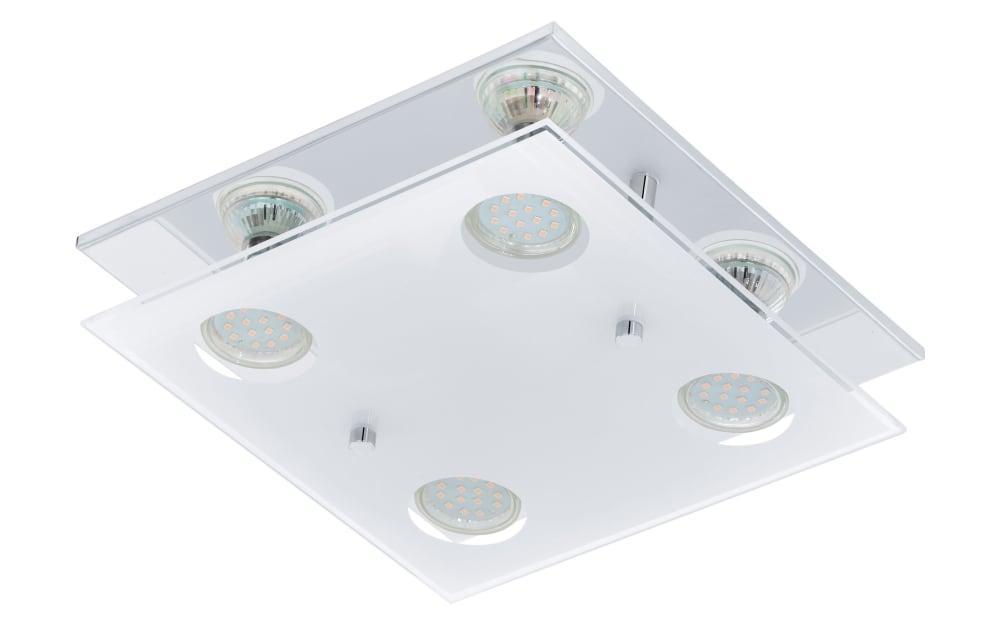 LED-Deckenleuchte Arborio in chromfarbig, 4-flammig