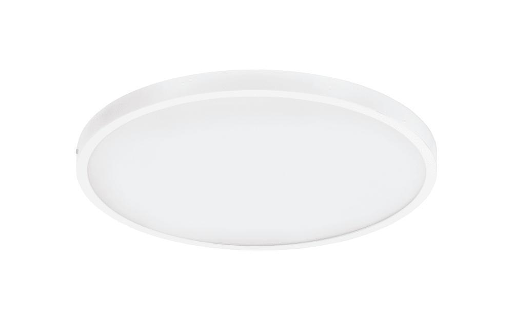 LED-Aufbauleuchte Fueva in weiß / rund, 50 cm
