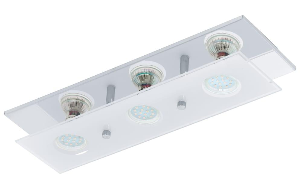 LED-Deckenleuchte Arborio in chromfarbig, 3-flammig