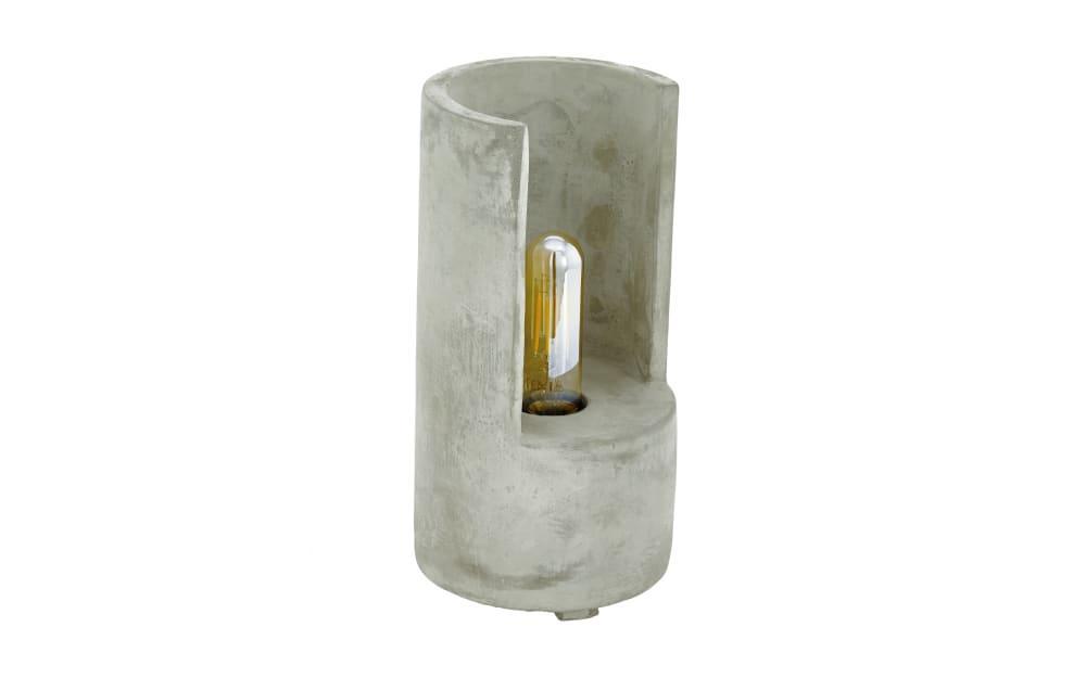 Tischleuchte Lynton in betonfarbig