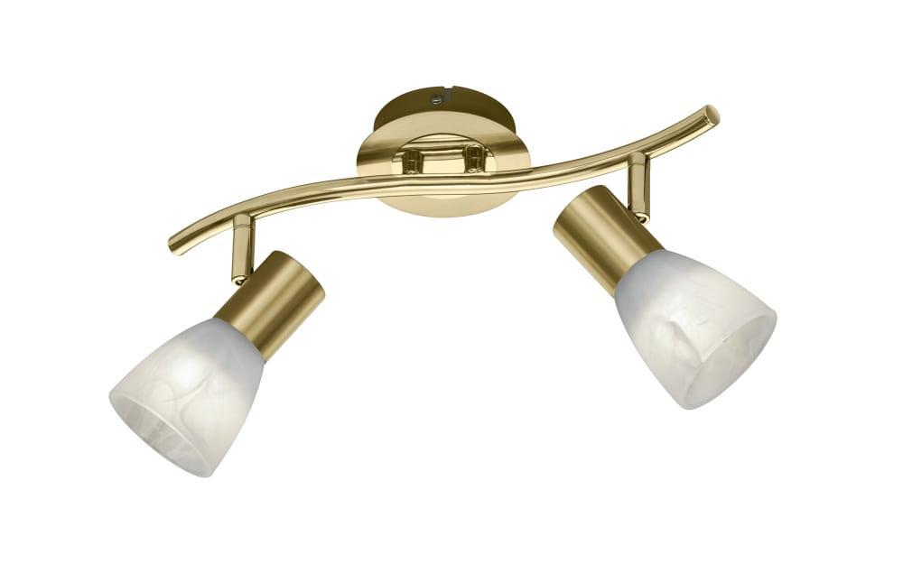 LED-Deckenleuchte Levisto in messing, 33 cm