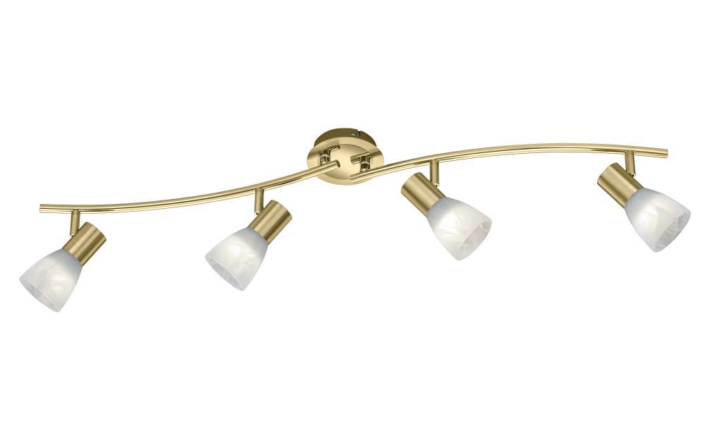 LED-Deckenleuchte Levisto in messing, 88 cm