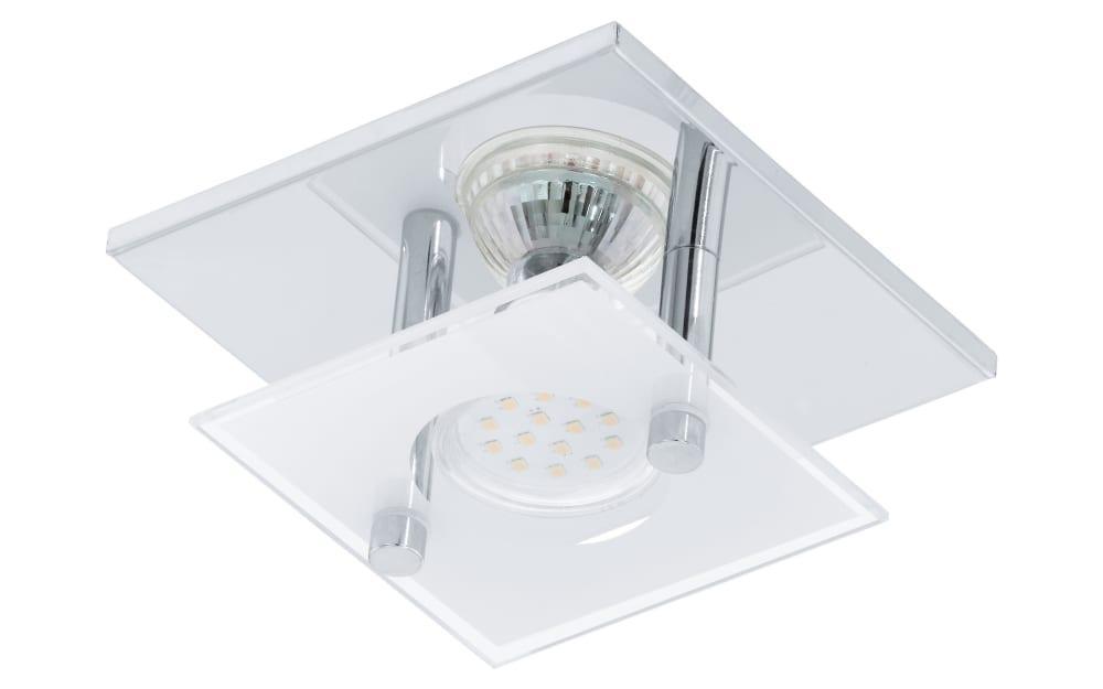 LED-Deckenleuchte Arborio in chromfarbig, 1-flammig