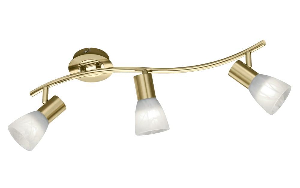 LED-Deckenleuchte Levisto in messing, 55 cm