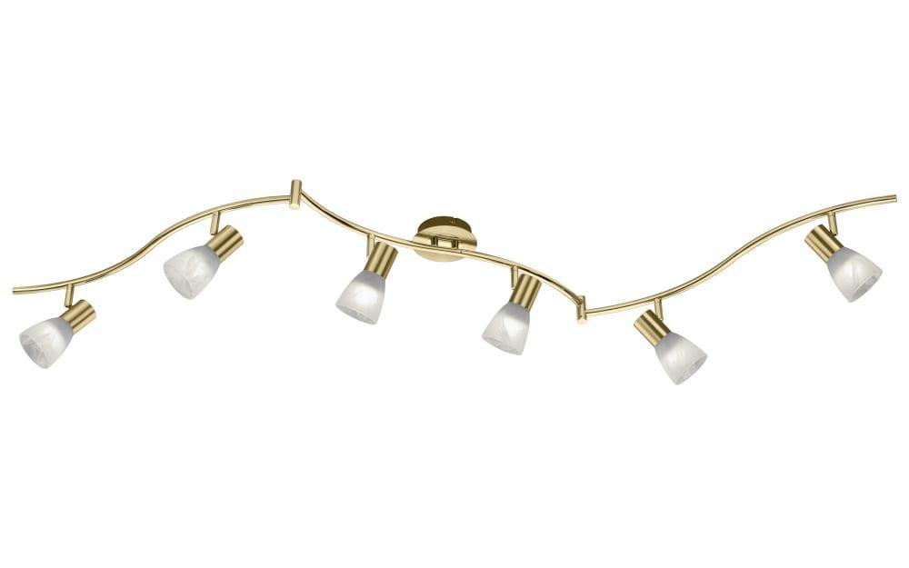 LED Deckenleuchte Levisto in messing, 180 cm