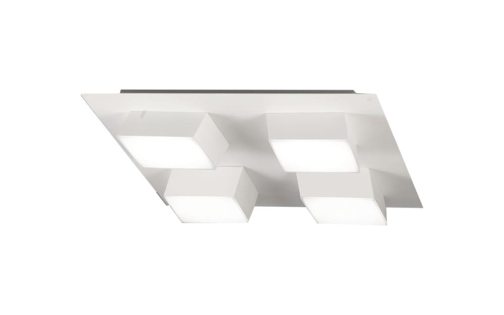 LED-Deckenleuchte Lucas in grau, 35 cm