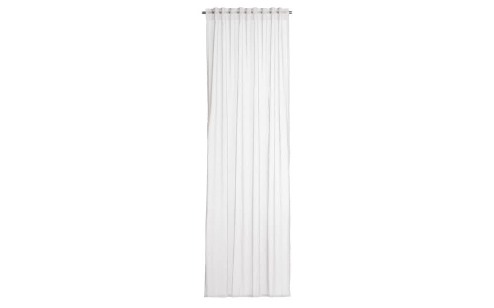 Vorhang Peru mit verdeckten Schlaufen in weiß, 140 x 245 cm