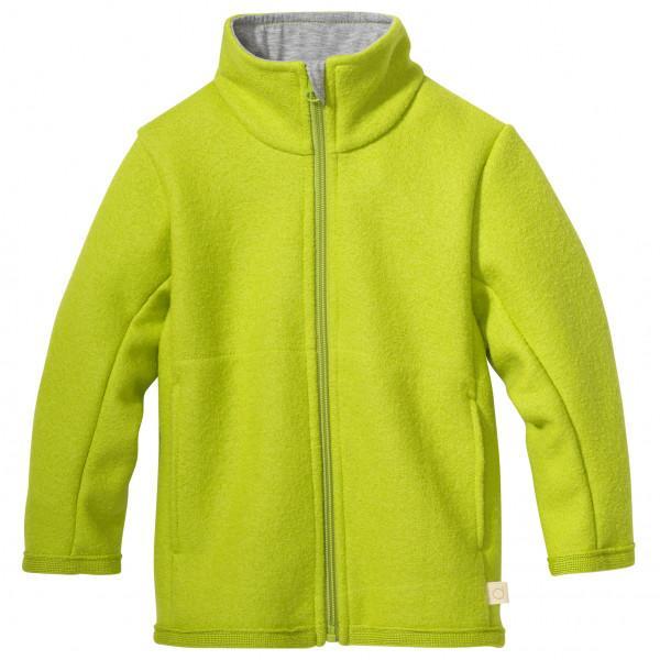 disana - Kid's Zipper-Jacke - Wolljacke Gr 74/80 gelb/grün