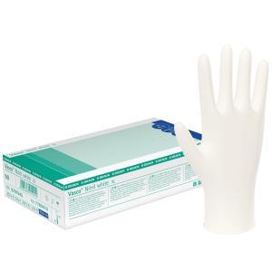 B. Braun Vasco® Nitril white Einmalhandschuhe, Medizinischer Einmal-Handschuh nach EN 455, 1 Packung = 100 Stück, Größe: XS