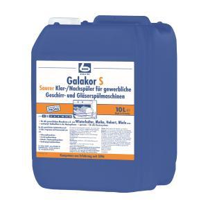 Dr. Becher Galakor S Klar-/Nachspüler, Saurer Klarspüler für alle Dosiersysteme, 10 Liter - Kanister