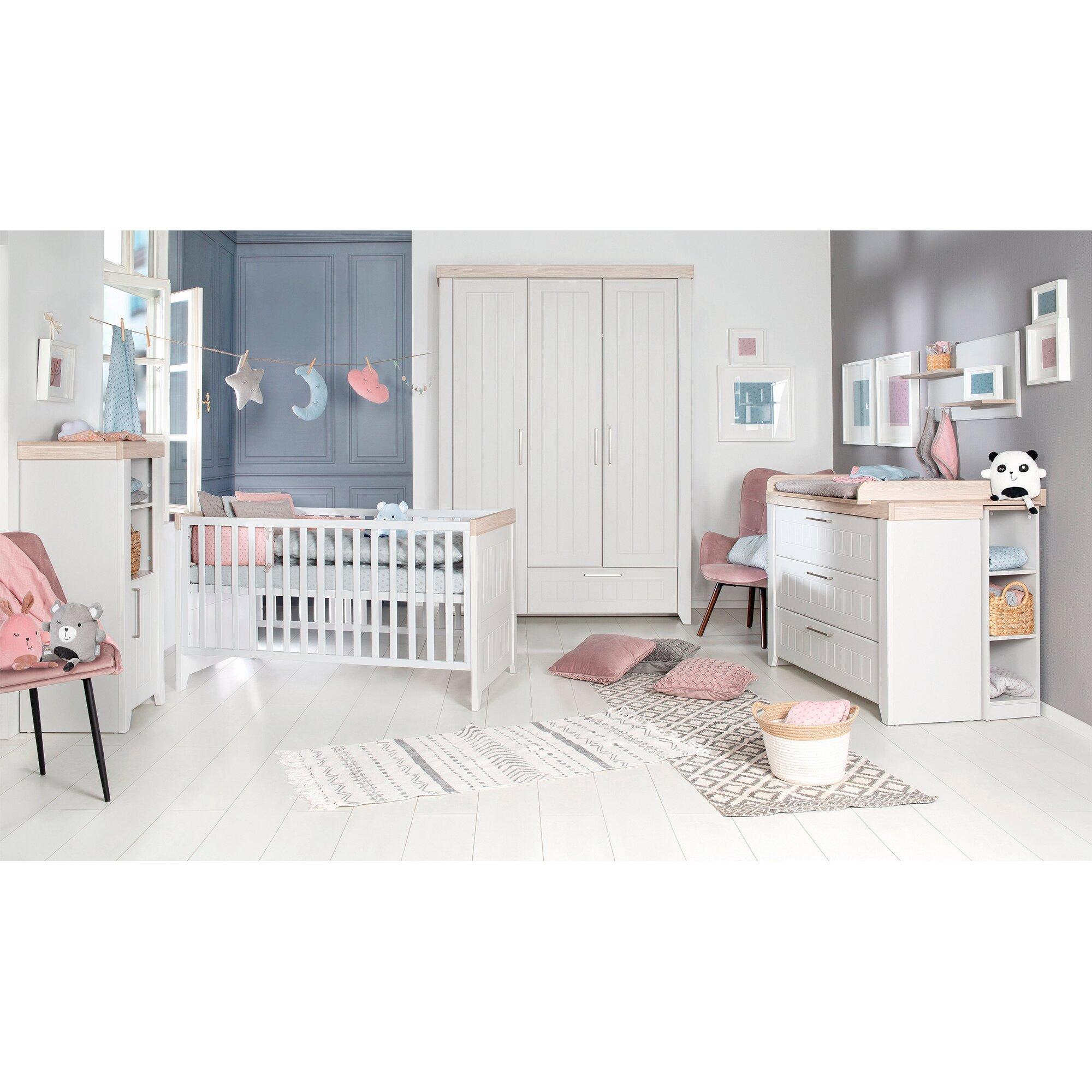 3-tlg. Babyzimmer Helene mit 3-türigem Kleiderschrank