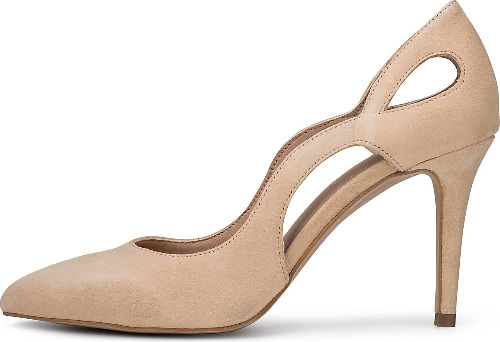 COX, Cut-Out Pumps in beige, Pumps für Damen Gr. 36
