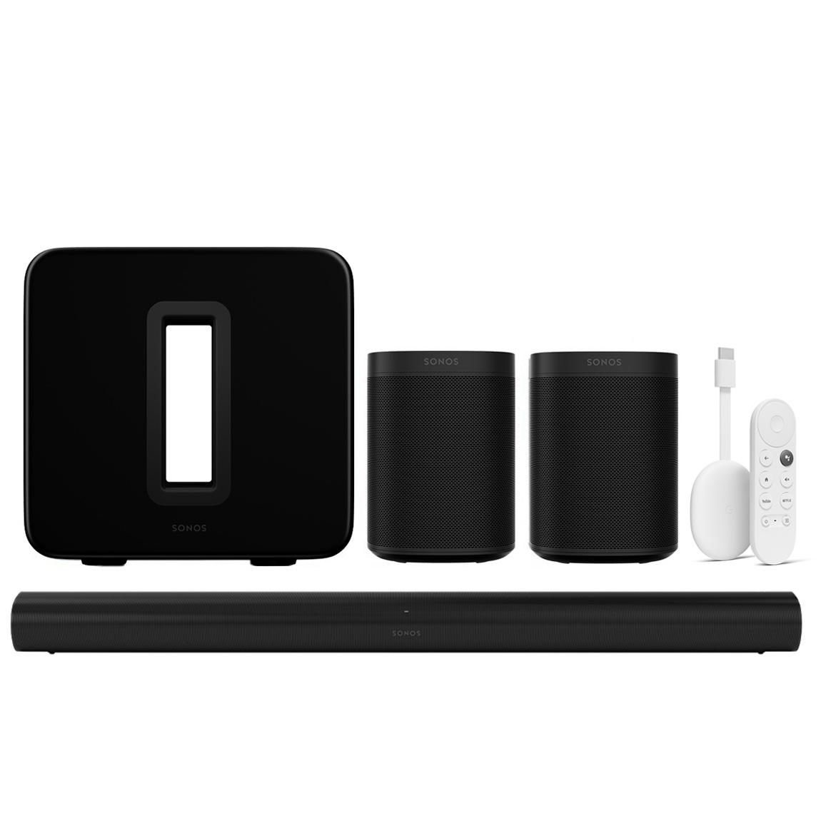 Sonos One Arc 5.1 Heimkino Set + Chromecast mit Google TV
