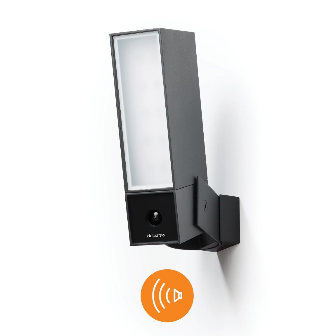 Netatmo Smarte Außenkamera mit Alarmsirene - Schwarz