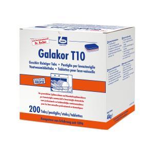 Dr. Becher Galakor T10 Geschirrreiniger-Tabs, Geschirrspültabs für den gewerblichen Bereich, 1 Packung = 200 Stück